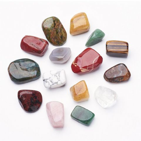 Stones - Natural & Synthetic -  Mixed 35~70mm - 5 pieces